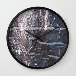 Dark slate gray colorful wash drawing texture Wall Clock