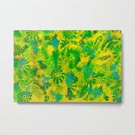 Yellow Meadow Metal Print