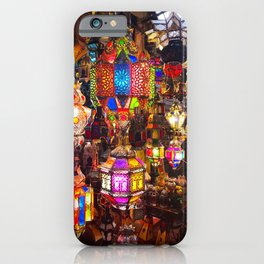 Lamps in the Souk, Fez Morocco, Africa iPhone Case