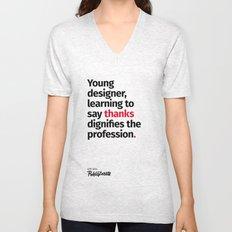 Young Designer — Advice #7 Unisex V-Neck