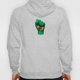 Brazilian Flag on a Raised Clenched Fist Hoody