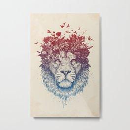 Floral lion III Metal Print