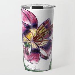 Exotic Lily Flower Travel Mug