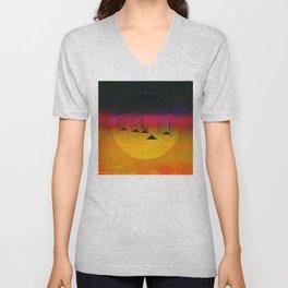 Pink Horizon / Archipelago Unisex V-Neck