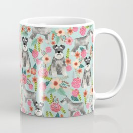 Schnauzer floral must have dog breed gifts for schnauzers owners florals Coffee Mug