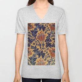"""William Morris """"Anemone"""" 2. Unisex V-Neck"""