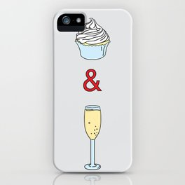 Cupcakes & Champagne iPhone Case