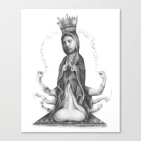 religious Canvas Prints featuring Religious Addiction by Daniel Vuyovich