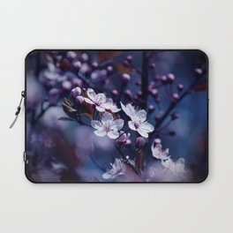Magic Violet Apple Tree Blossoms Photography Laptop Sleeve