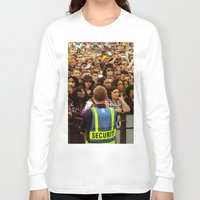 concert Long Sleeve T-shirts featuring Concert Crowd by ThatRaulSanchez