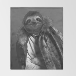 Model Sloth Throw Blanket