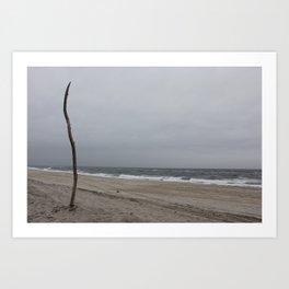 Cloudy Beach Day Art Print