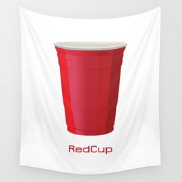 Red Cup Wall Tapestry