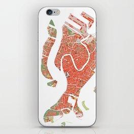 Venice city map classic iPhone Skin