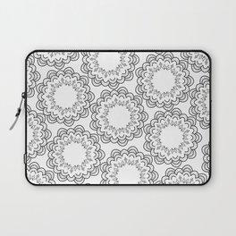Abstract geometrical black white hand painted mandala Laptop Sleeve