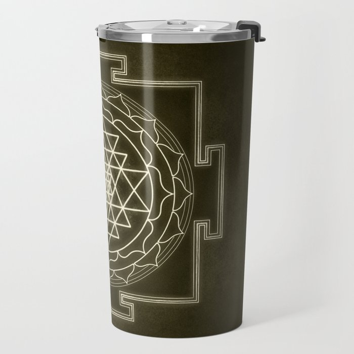 Sri Yantra XI monochrome Travel Mug