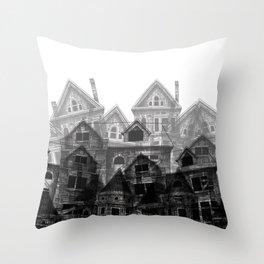 Fallen Cities Throw Pillow
