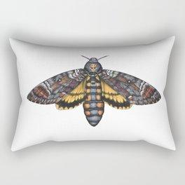 African Death's Head Hawkmoth (Acherontia atropos) Rectangular Pillow