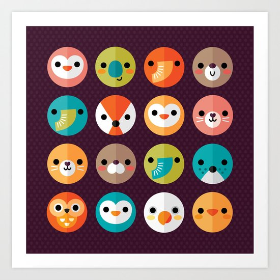 SMILEY FACES 1 Art Print