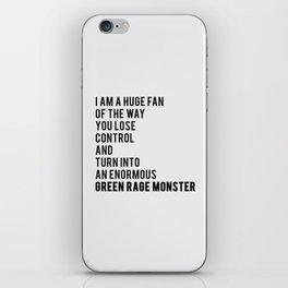 Green Rage Monster v2 iPhone Skin