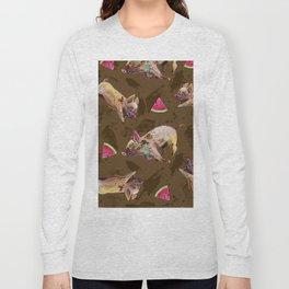 Super Cute Muddy Piglet Pattern Long Sleeve T-shirt