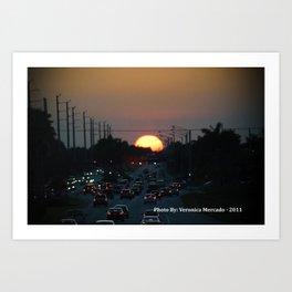 Hmm Beautiful Sunsetting  Art Print