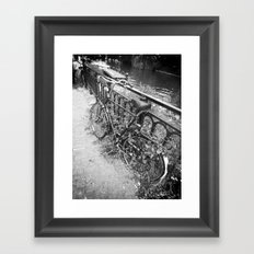 Abandoned Bicycle Framed Art Print