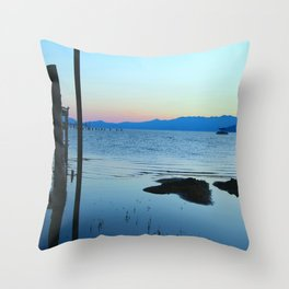 Blues at Sunrise - South Lake Tahoe, California Throw Pillow