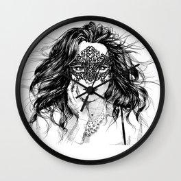 Inhale Lace Mask. Wall Clock
