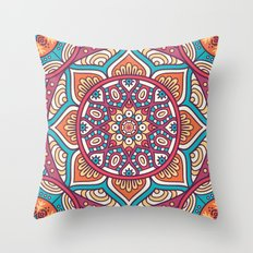 Mandala flower Throw Pillow