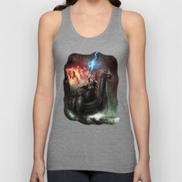 Dragon Viking Ship Unisex Tank Top