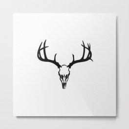 Bohemian Style Deer Skull and Antlers Designs Metal Print