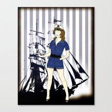 Navy Girl Canvas Print