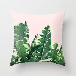 Jungle palms Throw Pillow