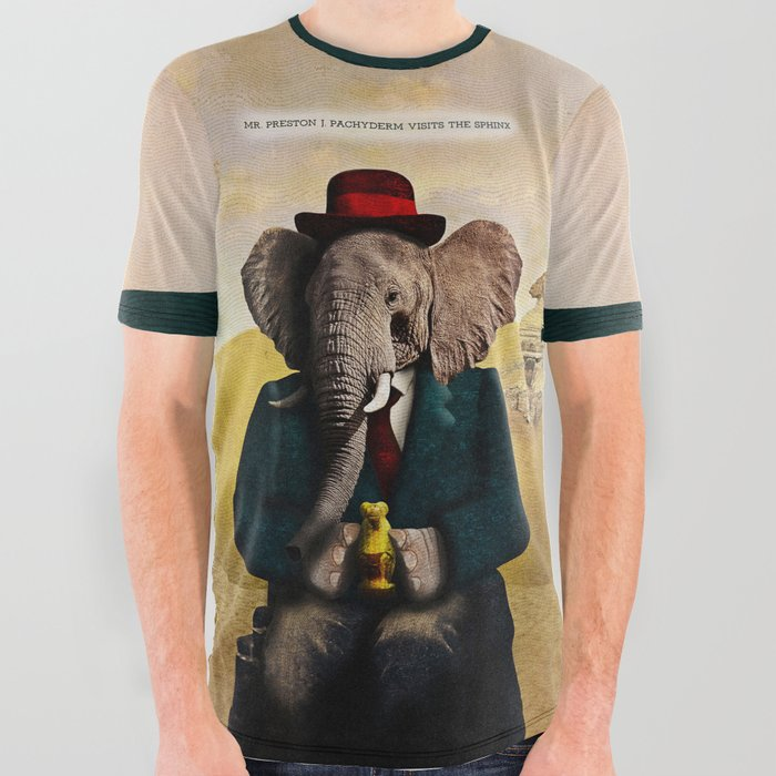Mr_Preston_J_Pachyderm_visits_the_Sphinx_All_Over_Graphic_Tee_by_Peter_Gross__Large