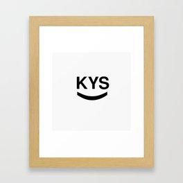 KYS SMILE Framed Art Print