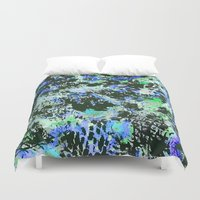 jay fleck Duvet Covers featuring Crystal Fleck by Mia Felce