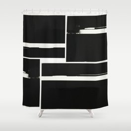 racing (film collage) Shower Curtain