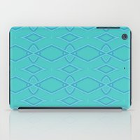 coasters iPad Cases featuring Abstract Teal Pattern  by Lena Photo Art