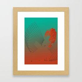 Shadow Fan Framed Art Print