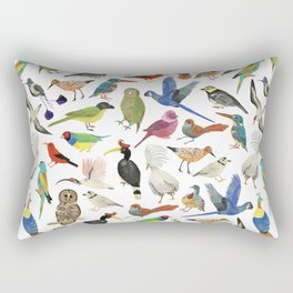 Endangered Birds Around the World Rectangular Pillow