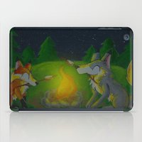 camp iPad Cases featuring Camp Aurooo by KristenOKeefeArt
