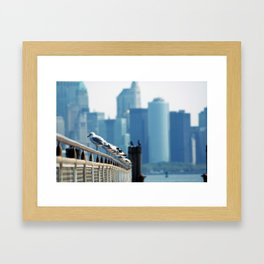 stand in a row... Framed Art Print