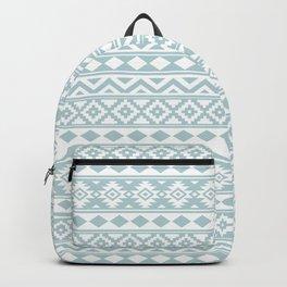 Aztec Essence Ptn IIIb Duck Egg Blue & White Backpack