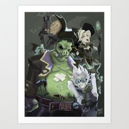 Team Junkenstein Art Print