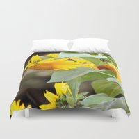 sunflowers Duvet Covers featuring SUNFLOWERS :) by Teresa Chipperfield Studios