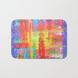 I have found my joy - prophetic art abstract expressionism rainbow colourful braille contemporary Bath Mat