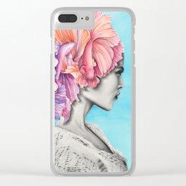 Betta Fish Artwork Clear iPhone Case