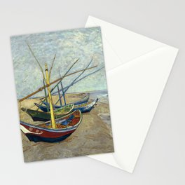 Van Gogh - Fishing boats on the beach, 1888 Stationery Cards