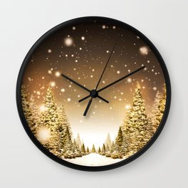 Extra Pines Wall Clock